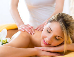 woman being massage