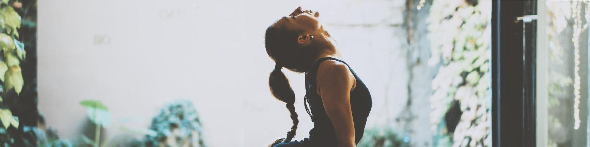 woman do yoga